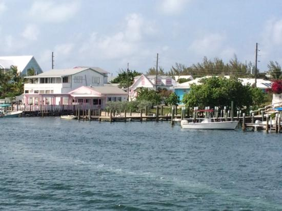 Cap'n Jack's casual dining offers a great view of Hopetown Harbor