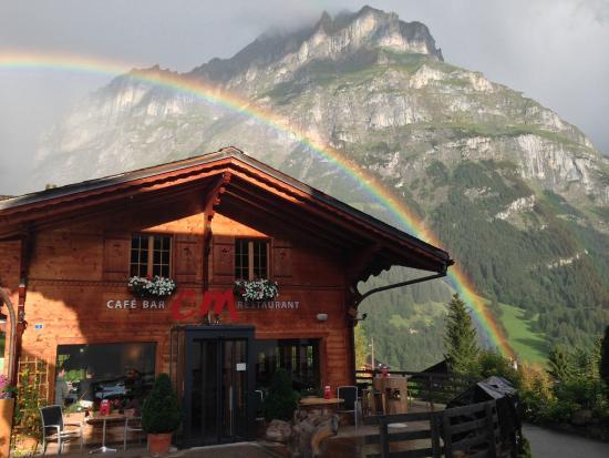 C und M Cafe Bar Restaurant : 虹が出て感動的でした!