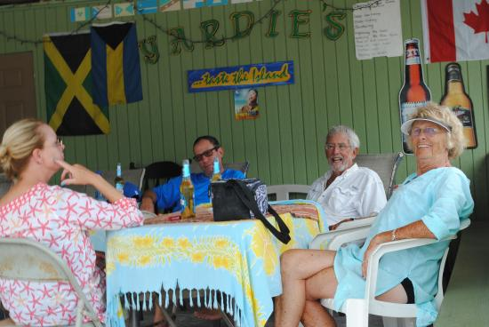 """Fernandez Bay Village: One of our stops on the our """"Cat Island Pub Crawl""""."""