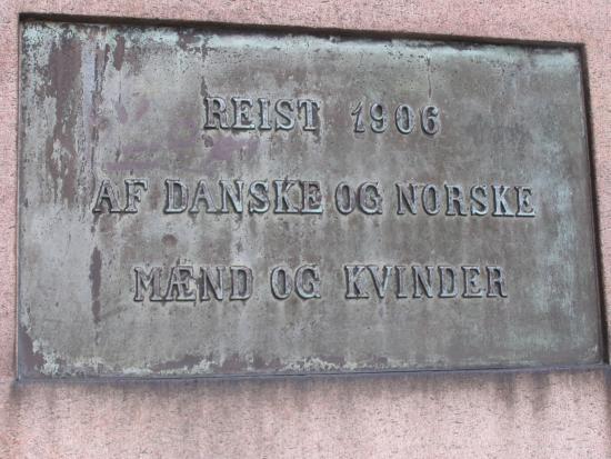 Koege, Denmark: Monumentet er rejst 1906.