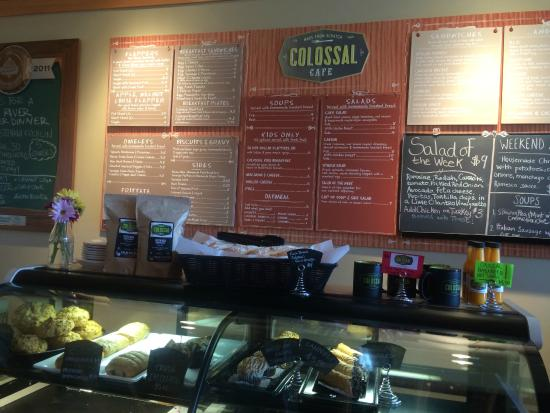 Colossal Cafe: Menu is posted