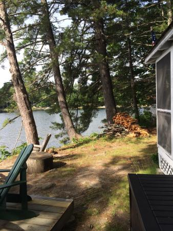 Sebago, ME : Looking across the front yard of Morningside