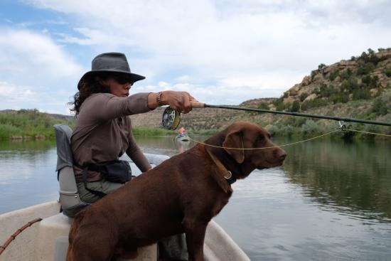 New Mexico: My wife and Boomer about to catch a big one :)