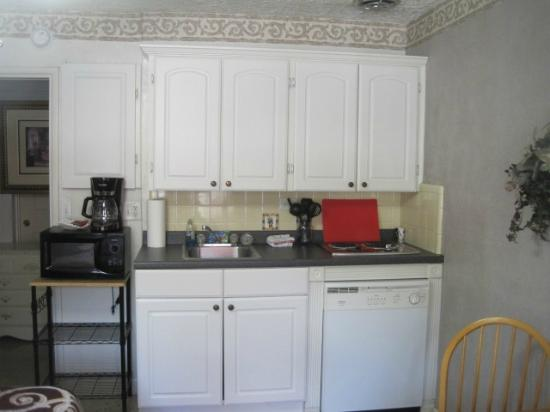 Terrace Park Suites: Kitchen with microwave and stove (fridge to the left out of picture)