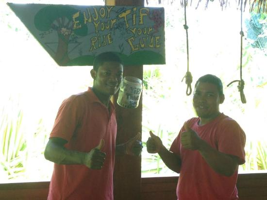 Sky Zipline Canopy Tour at Red Frog Beach : Jesus and Beto