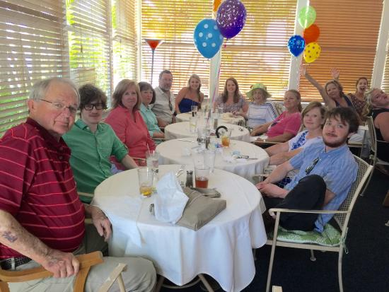PJ's Seagrille : 1/2 of group at PJs celebrating Mary Janes and Janies birthdays.