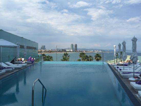W Barcelona: To infinity and beyond.. .. what a beautiful infinity pool