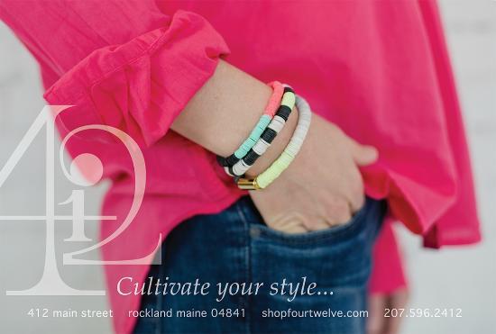 fourTWELVE: Frank & Eileen linen blouse, striped bracelets by Julie Thevenot.