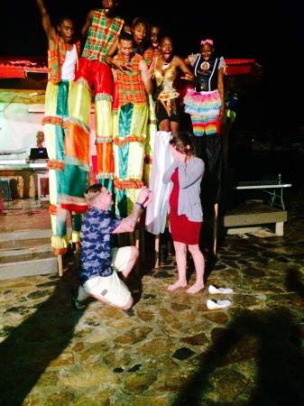 "Leverick Bay Resort: She said ""yes"" at Jumbie Night !"