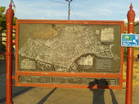 Talana Hotel : Map in St Helier.
