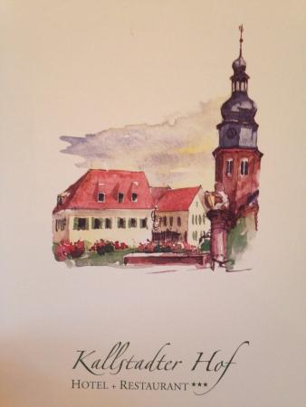 Kallstadt, Германия: Speisekarte