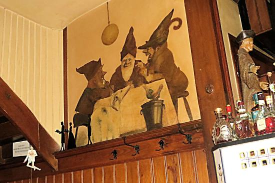 Weinstube Forelle: Wall decoration