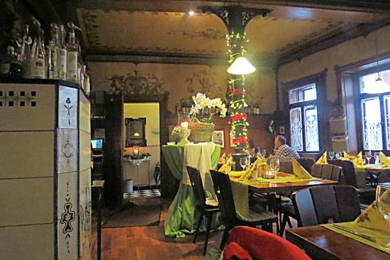 Weinstube Forelle: Entrance hall & Lower Dining room