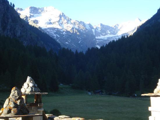 Hotel Ondezana : vista sul Monte Bianco dalla camera