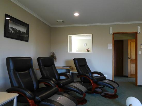 Brydan Accommodation: Three of the four recliners in Living area Villa 102