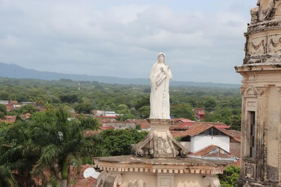 Guadalupe Church, Granada, Nicaragua. View from the top.