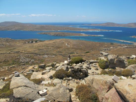 view over delos - Picture of Mount Kynthos, Delos ...