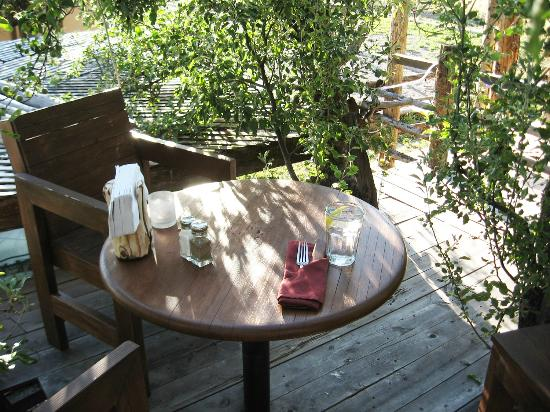 Cedaredge Lodge : Dining in a tree house is a uniquely delightful experience