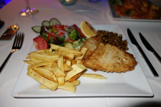 Fantastic Fish & Chips at the Hotel Zinbad Restaurant, Kalkan