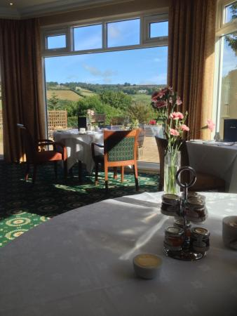 Ilsington Country House Hotel: Food with a view