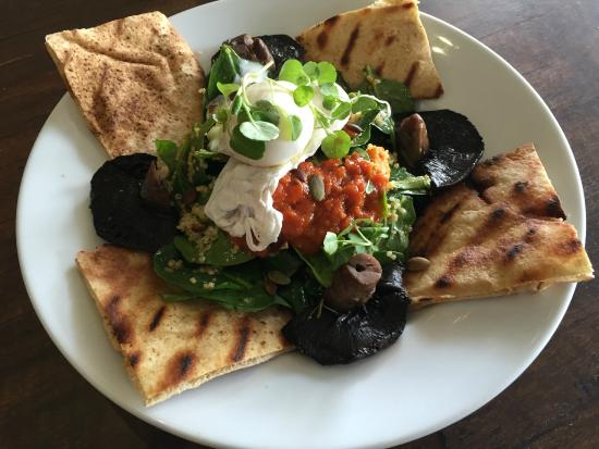 Targa: Breaky Salad with house made piadina