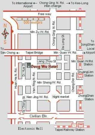 Dong Wu Hotel: Map