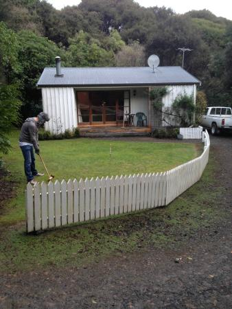 Akaroa Cottages - Heritage Collection: Playing croquet in front of our wee cottage, provided by Akaroa Cottages