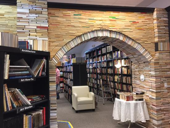 Sandman Book Company: Sturdy book arch and the Fabulous KittyWanK.