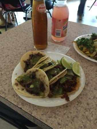 Lilly's Tacos: Marinated pork, beef's eye and tongue. Exquisite tacos!!!