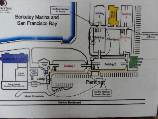 Doubletree By Hilton Berkeley Marina Hotel Map