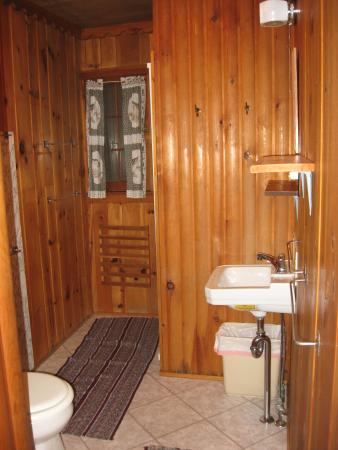 Timber Lost Resort: Bathroom (Shower is in back corner )