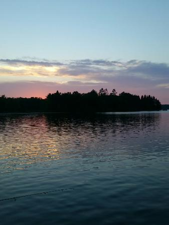 Breezy Point Resort: Sunsets from the resort and loons