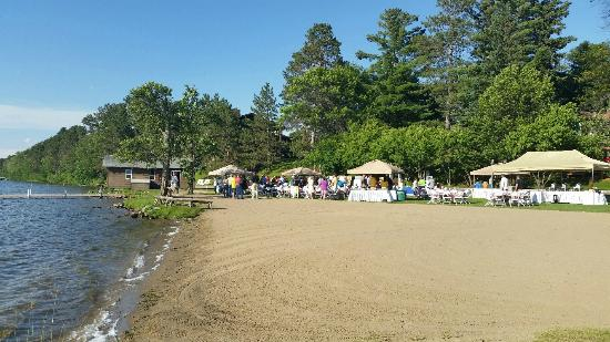 wilson bay beach area at madden s on gull lake picture of madden s