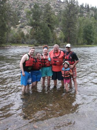 Absarokee, MT: our raft group