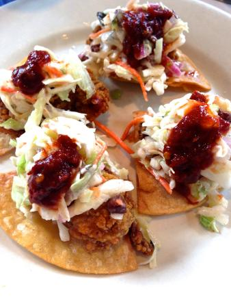 ... oyster slider cornbread and oyster stuffing fried oyster tacos at