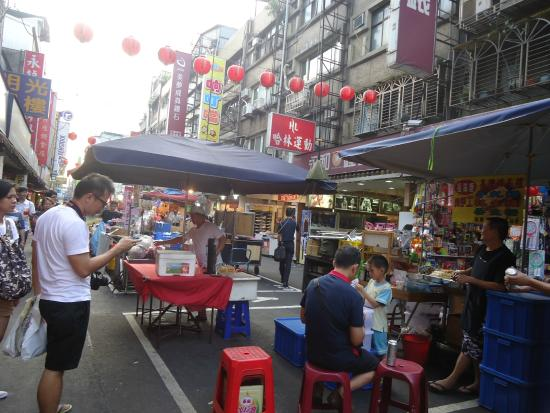 Xinyi District, Taipei: salah satu sudut di Raohe night market