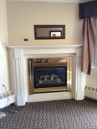 High Level, Kanada: Gorgeous Gas Fireplace and Surround