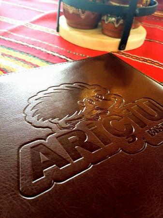 Ariciu: The menu & cute logo