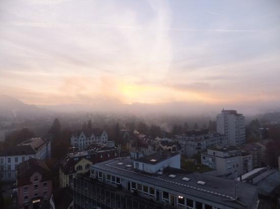 Hotel Linde: Вид из окна