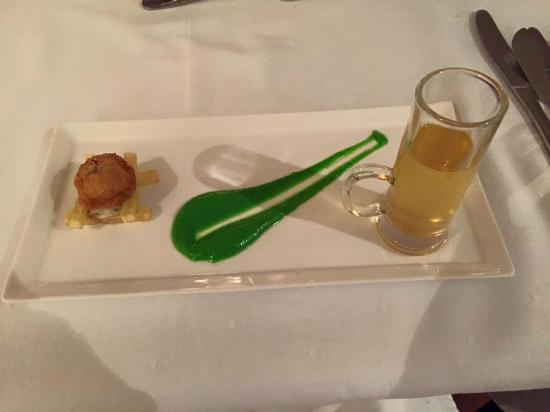 Budmarsh Country Lodge: Amuse-bouche Fish Chips