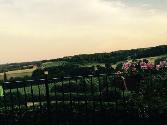 Chateau de Sanse: View from Restaurant terrace