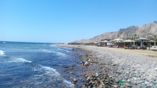Sea Sun Hotel Dahab: kamenitá pláž