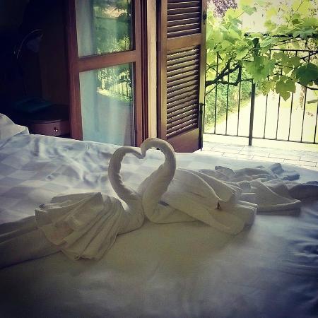 Hotel Ristorante Volta: asciugamani a forma di cigni