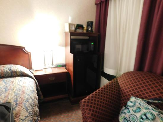 Mulberry Inn and Plaza at Fort Eustis: Loved the fact there was a mini fridge and microwave.