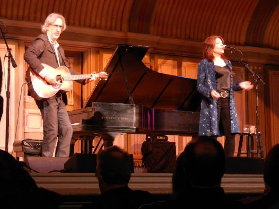 Troy Savings Bank Music Hall: from a recent performance of Roseanne Cash (and her husband) performing at The Hall