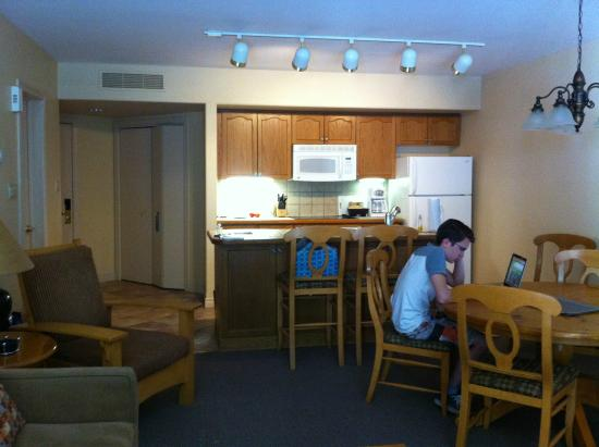 Carriage Hills Resort: Kitchen & Dining area