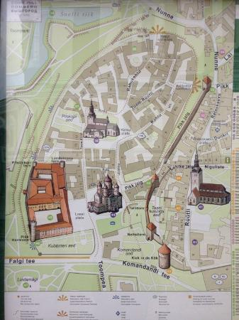 Old town map Picture of Tallinn Old Town Tallinn TripAdvisor