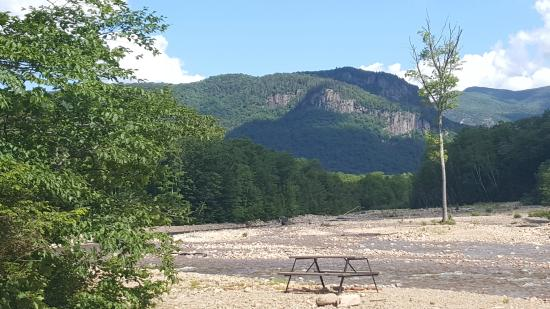 Crawford Notch General Store and Campground: View from our campsite!