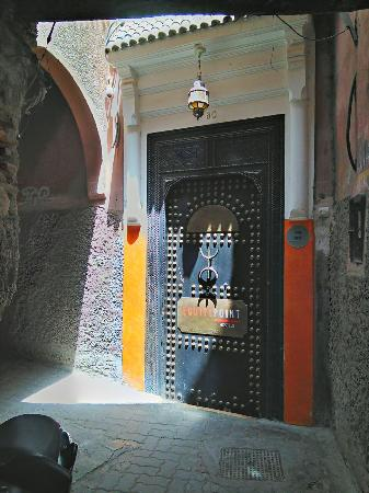 Equity Point Marrakech Hostel : Entrance to hostel. Ask locally how to find it.