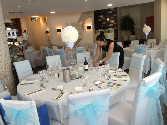 Tables set up - Picture of Sands Bistro, Southend-on-Sea - TripAdvisor